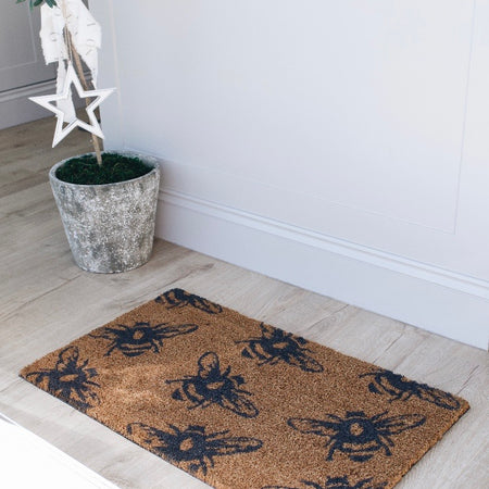 Buzzy Bees coir Doormat with rubber base