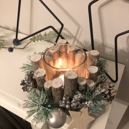 Medium woodland candle holder