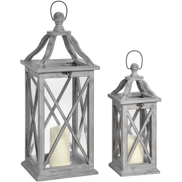 Medium Grey Wash Lantern