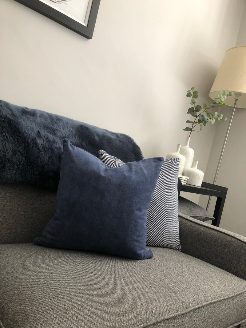 Blue navy indigo cushion 45cm