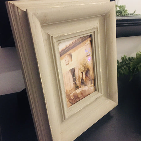 5x7 Distressed grey wood frame