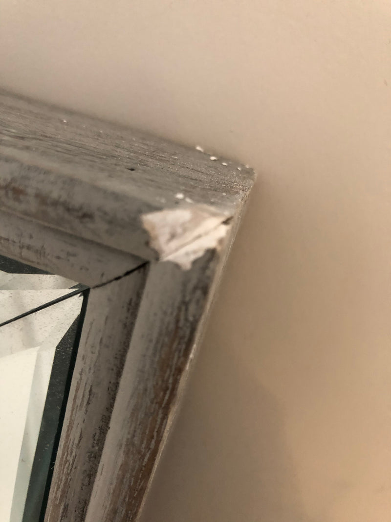 Store seconds Grey wash wood and Venetian mirror 140x60
