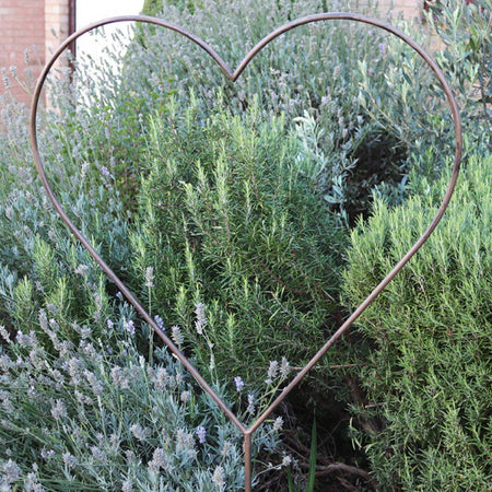 Large Metal Garden Heart Stake