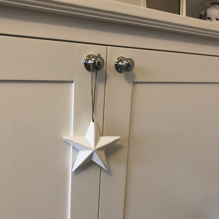 White hanging star