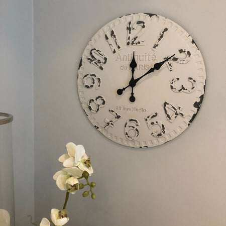 Distressed Antique Paris clock