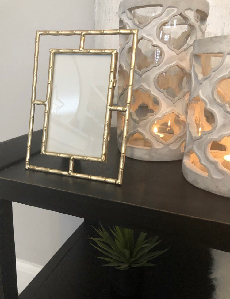 Gold bamboo simple frame 5x7