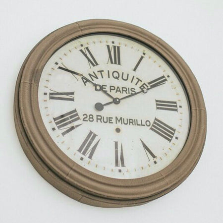 Grey large chunky clock