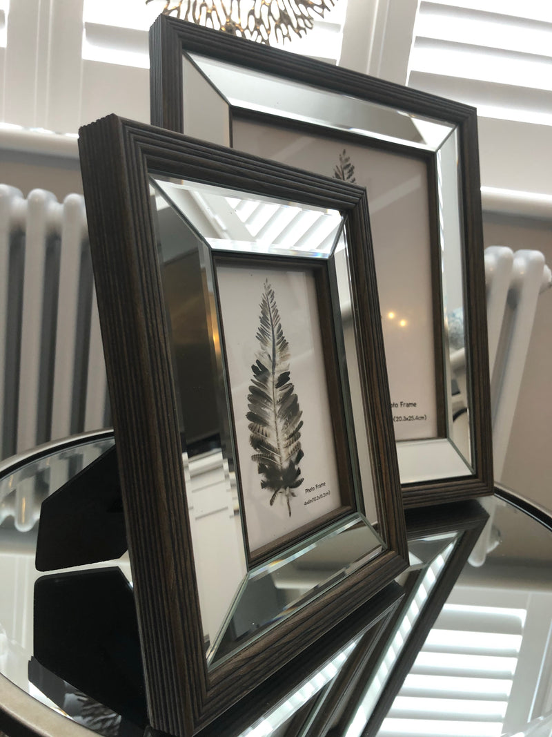 Mirror and Wood Frame 4x6
