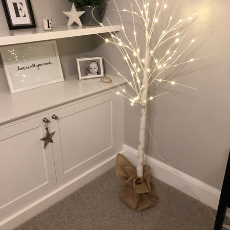 150cm LED Birch Effect Tree