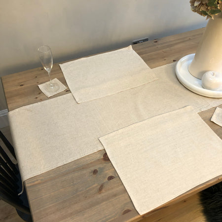 Linen table runner 200cm