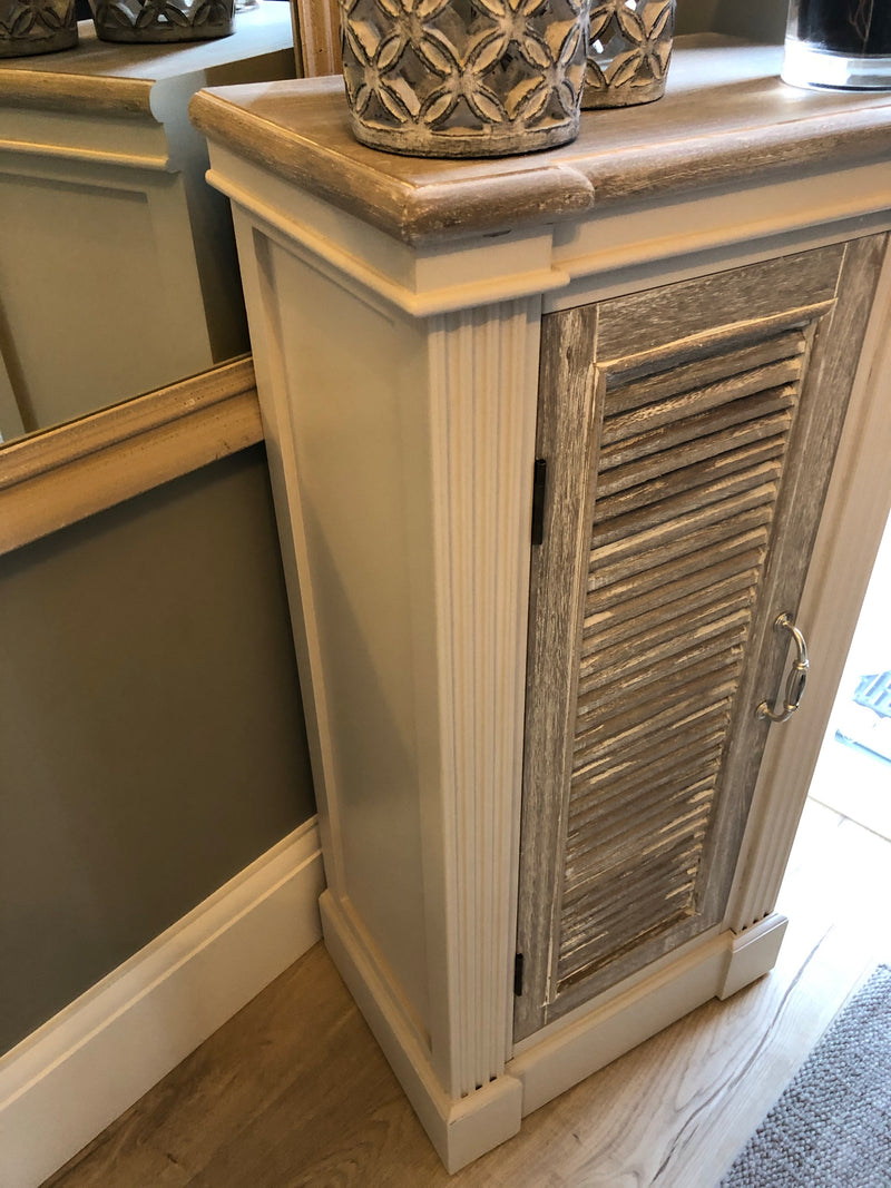 Tall Cabinet with Louvre doors