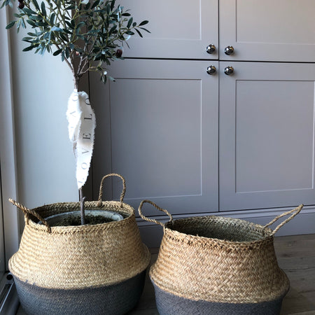 Store seconds medium Grey sea grass weave basket