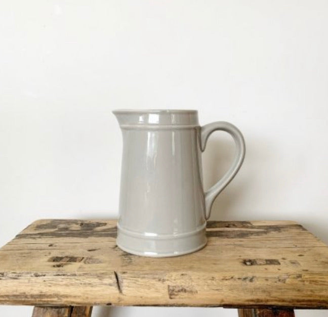 Grey ceramic simple jug