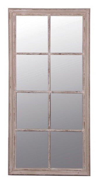 Large Taupe Window Mirror
