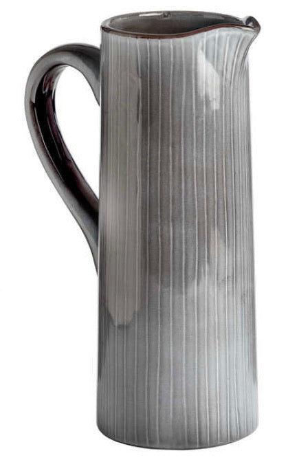 Grey tall textured jug
