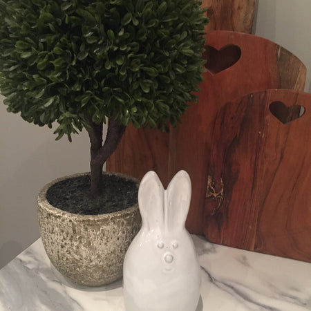 Cute Ceramic Rabbit Ornament