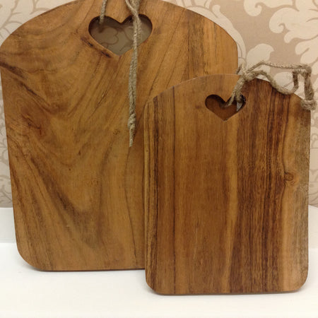 Medium heart chopping board