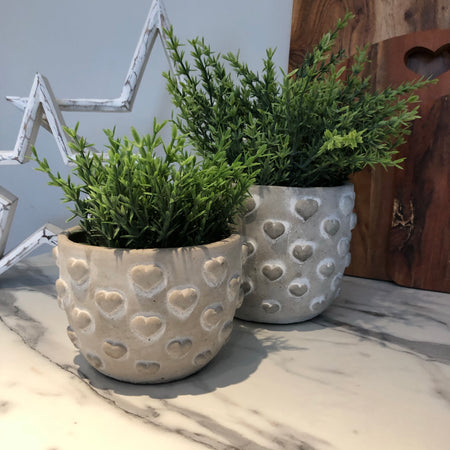 Parlane Small Heart grey planter