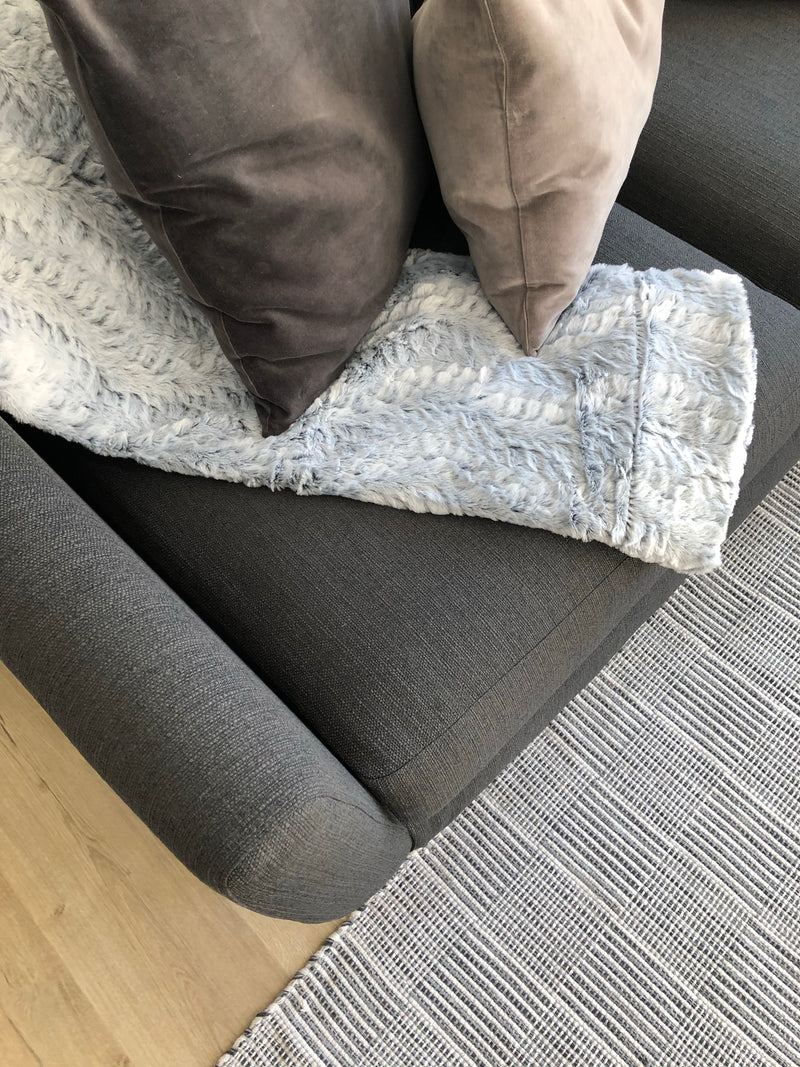 Pale grey herringbone cushion