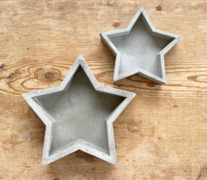 Cement star tray dish
