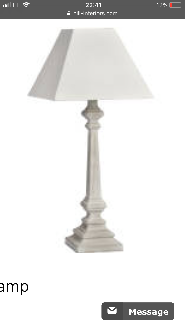 Store seconds washed lamp with square shade