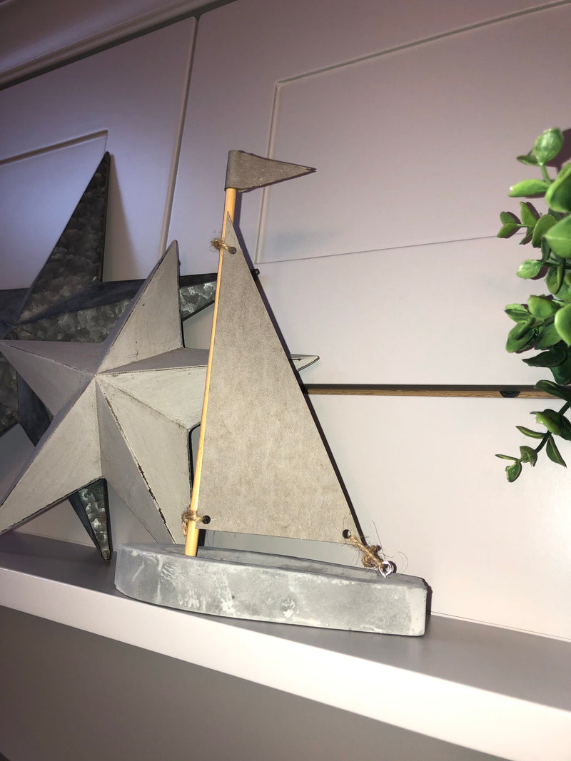 Simple Marine cement Sailboat