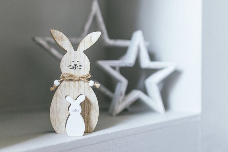 Double rabbit decoration