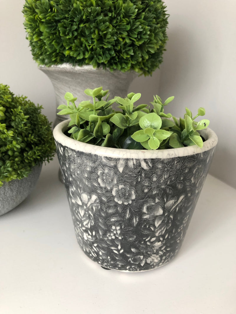 Dutch pot Design 2 black/grey