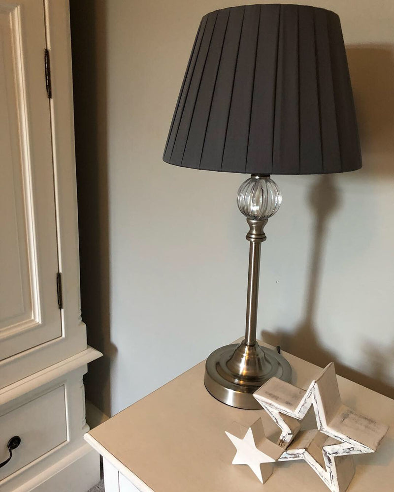Small white washed wooden lamp pella