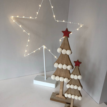 Set of two Pom Pom trees