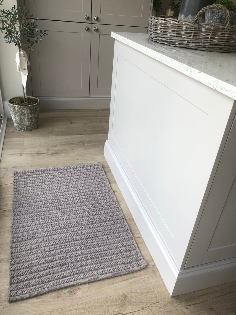 Rope rug grey taupe 90x60