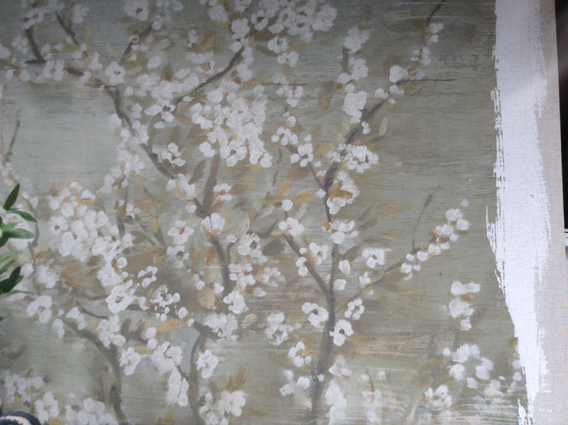 Huge white blossom canvas