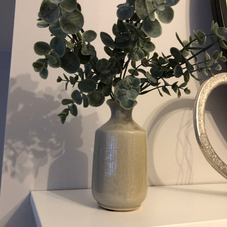 Light Grey/taupe Ceramic Bottle