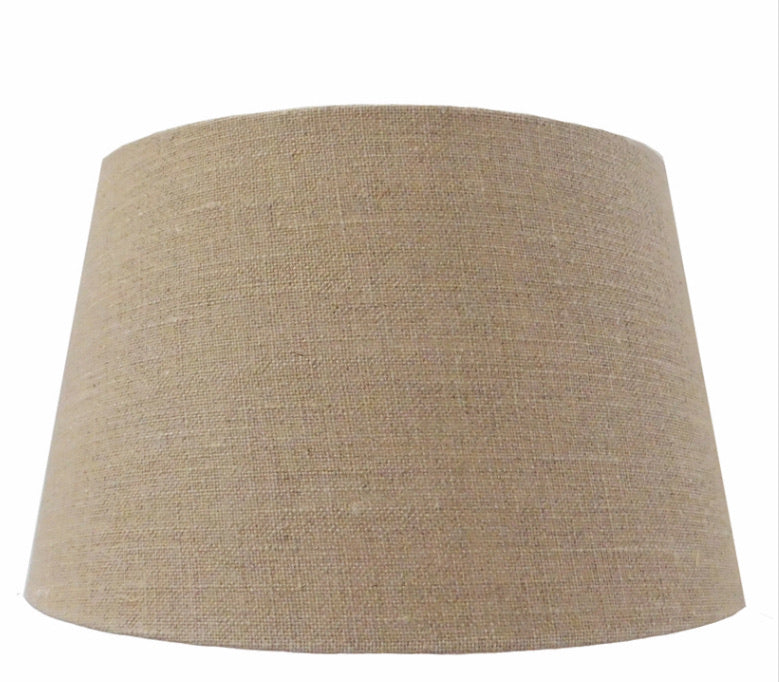 Linen tapered shade 25cm