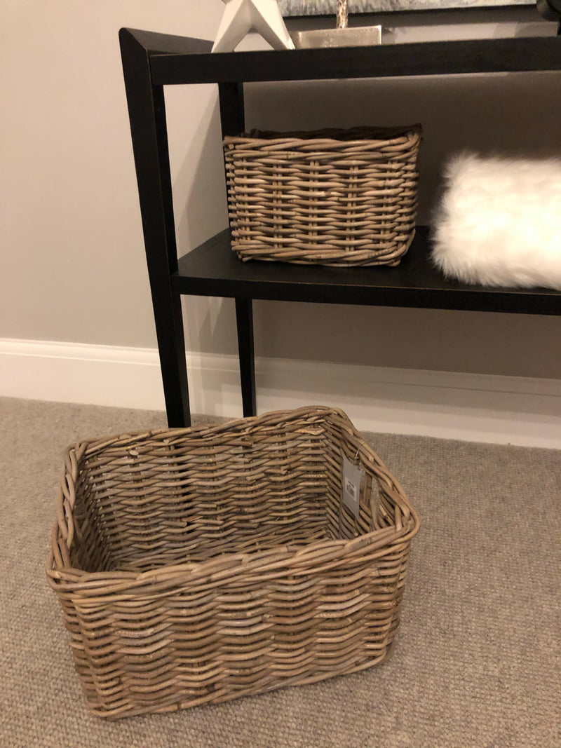 Medium kubu Chunky Oblong Wicker basket