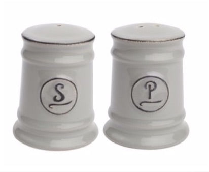 Grey Ceramic Salt & Pepper Shakers