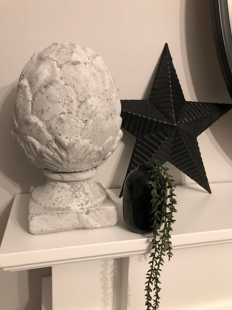 Large stone decorative artichoke