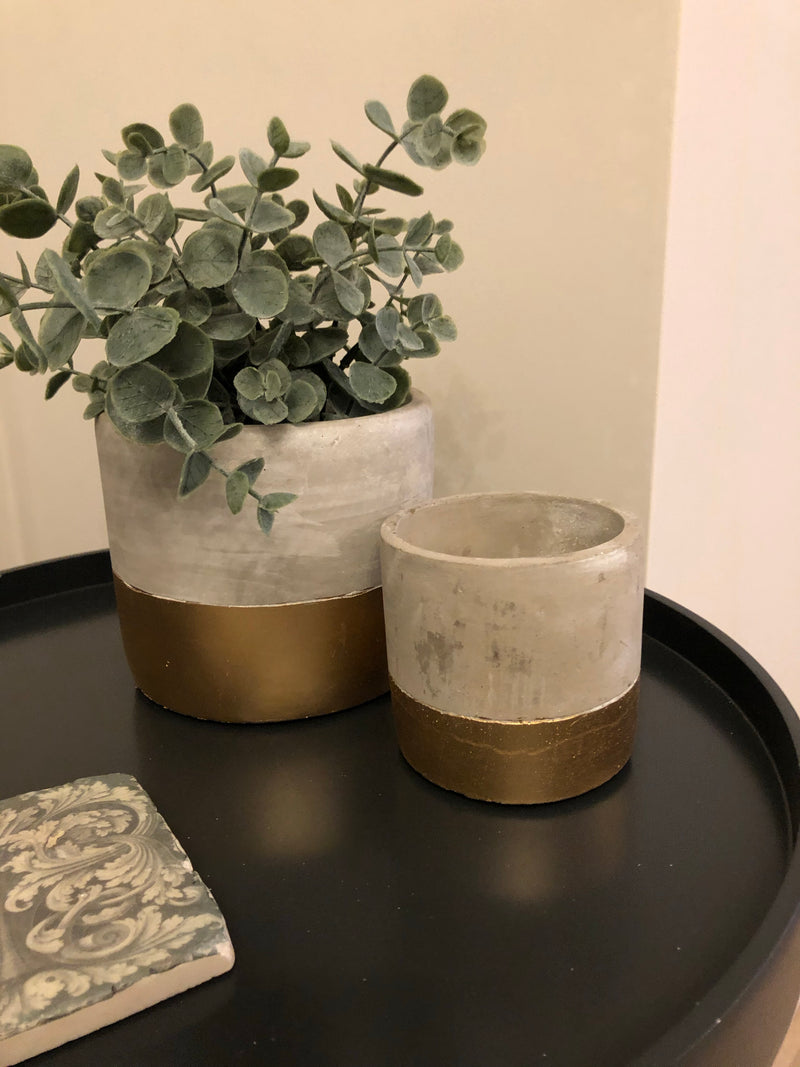Medium Grey Double Handled Pot planter
