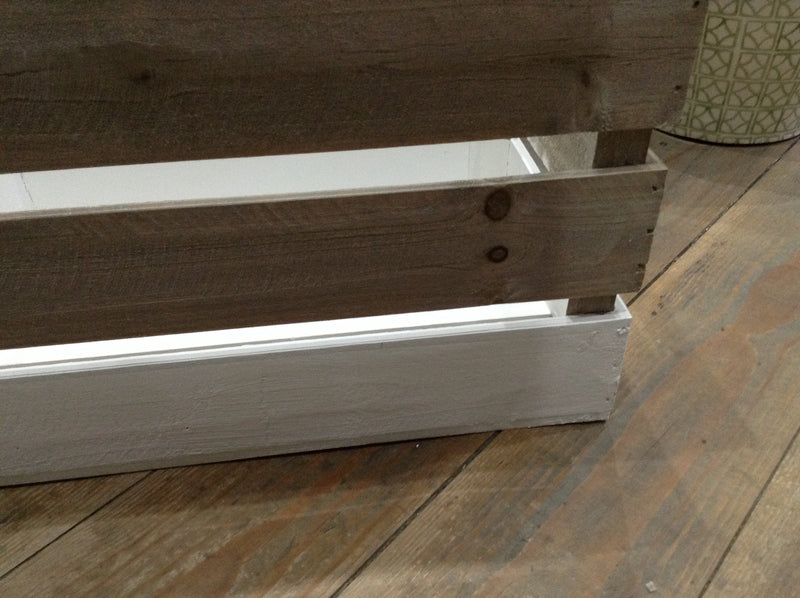 Large Two Tone Wood Crate