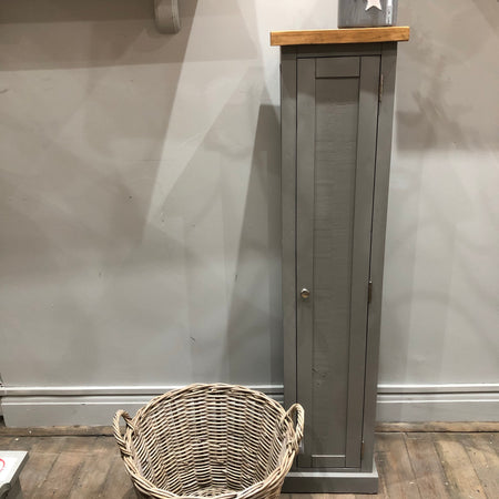 Tall Grey Slim Cabinet