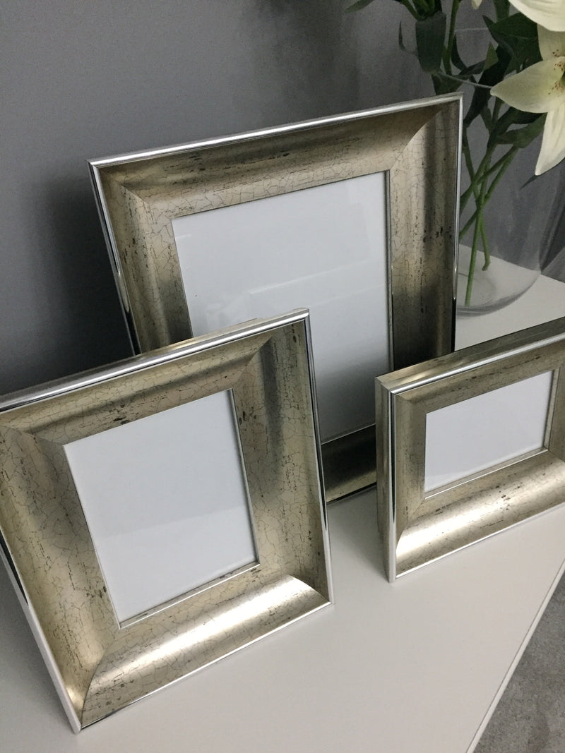 "Champagne Crackle Finish Photo Frame (5"" x 7"")"