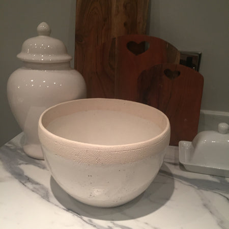 Large Two Tone Ceramic Bowl