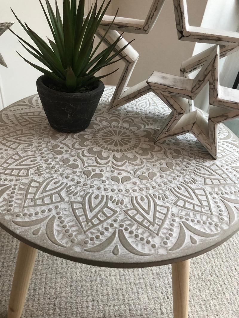 Embossed Wooden Table