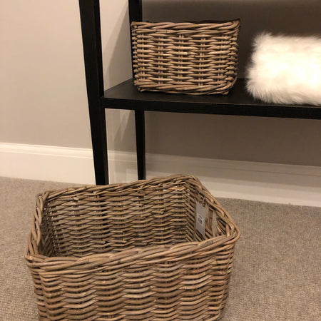 Small kubu Chunky Oblong wicker basket