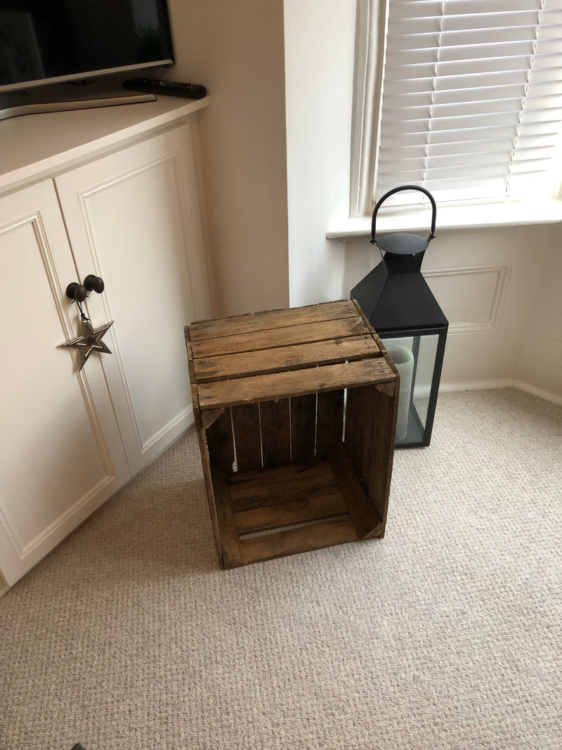 Large wooden rustic crate