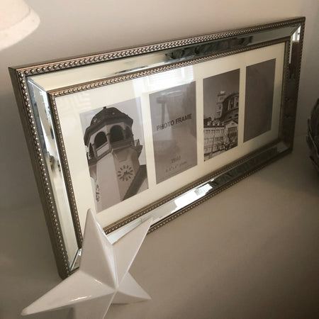 4x6 silver mirrored multi frame