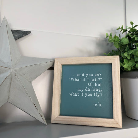 My darling but what if you fly plaque