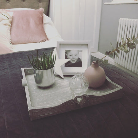 Medium grey square tray