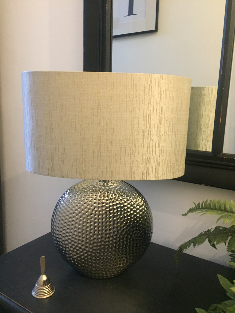 Hammered Silver Lamp