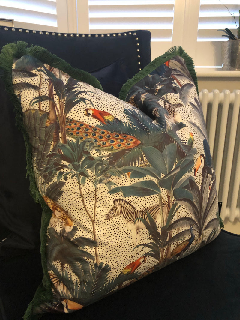 Jungle Forest print cushion